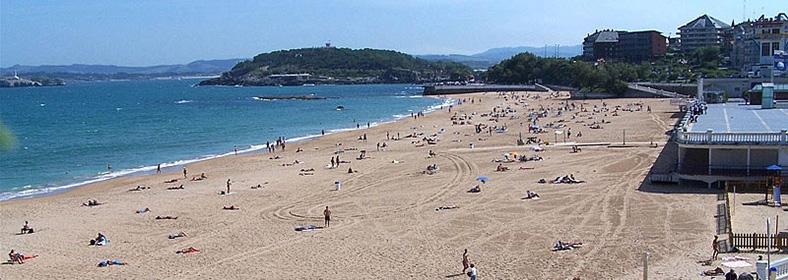 Playa de La Concha, en Santander