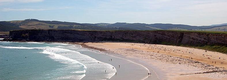 Playa de Langre, en Langre
