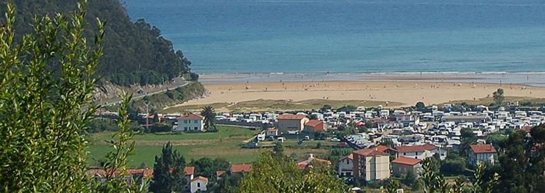 Playa de Oriñón, en Oriñón