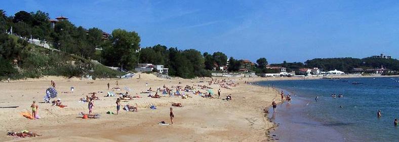 Playa de Los Peligros, en Santander