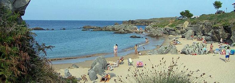 Playa de Ris, en Noja