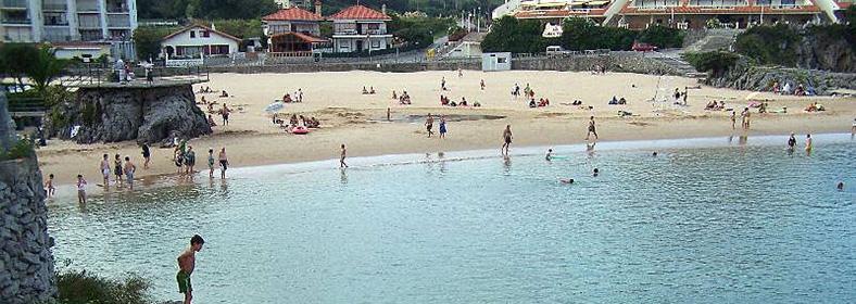 Playa de el Sable de Quejo, en Isla