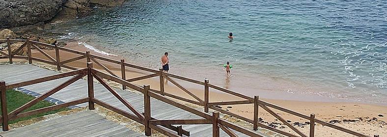 Playa de Santa Justa, en Ubiarco