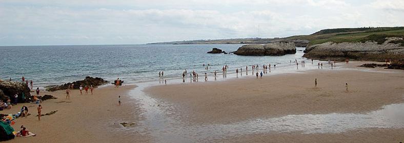 Playa de la Virgen del Mar, en San Román